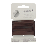 Hår elastik brun-smal 16 stk.
