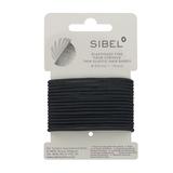 Hår elastik sort-smal 16stk.